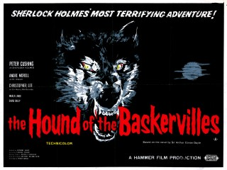 The Hound of the Baskervilles 1959 quad poster