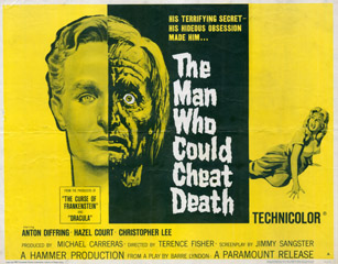 The Man Who Could Cheat Death 1959 Half Sheet