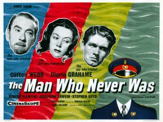 The Man Who Never Was 1956 Quad poster