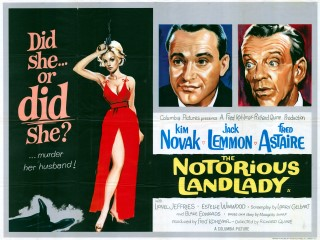 The Notorious Landlady 1962 Quad British Poster