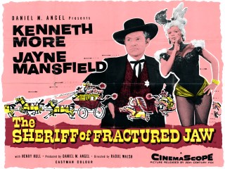 The Sheriff of Fractured Jaw 1958 Quad Poster