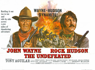 The Undefeated 1969 Quad UK Poster