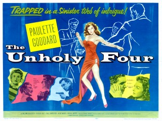 The Unholy Four 1954 US Half Sheet Poster