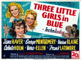Three Little Girls In Blue 1946 Quad poster