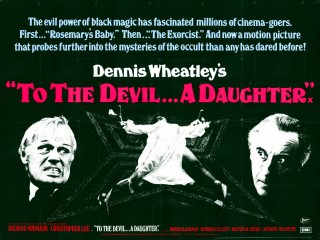 To the Devil A Daughter 1976 Quad Poster