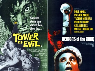 Tower of Evil Demons of the Mind 1972 Quad Double Poster