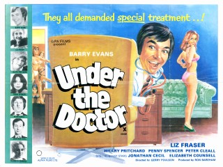 Under The Doctor 1976 Quad Poster