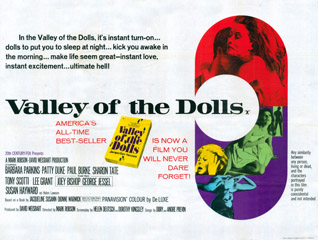 Valley Of The Dolls 1967 Quad English Poster