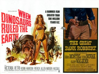 When Dinosaurs Ruled the Earth Great Train Robbery 1970 Quad