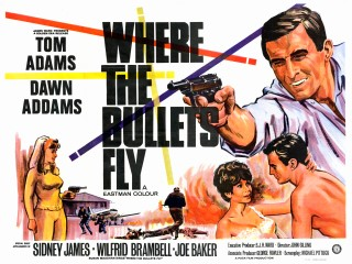Where The Bullets Fly 1966 Quad Poster