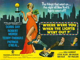 Where Were You When The Lights Went Out 1968 Quad Poster